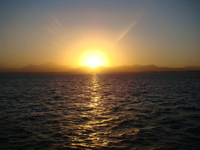Sunset on the Red Sea. Egypt